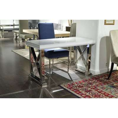 Stone International Impero Dining Table - Marble and Stainless Steel