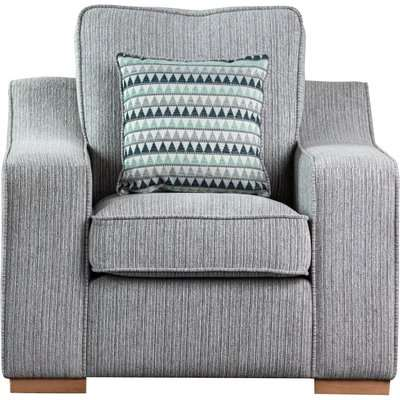 Sweet Dreams Clyde 1 Seater Silver Fabric Sofa
