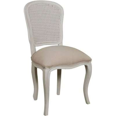 Versailles French Stoney Ground Painted Rattan Back Dining Chair (Set of 4)