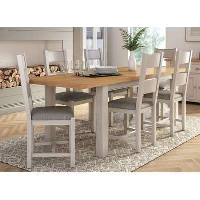Vida Living Amberly 120cm-165cm Grey Painted Extending Dining Table
