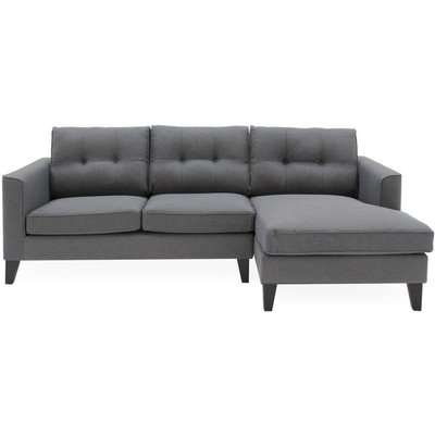 Vida Living Astrid Charcoal Fabric Left Hand Facing Corner Sofa