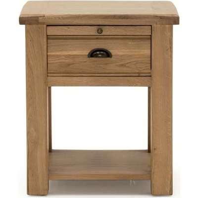 Vida Living Breeze Oak 1 Drawer Bedside Table