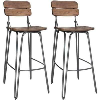 Vida Living Delta Rustic Bar Chair (Pair)