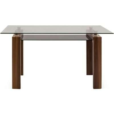 Vida Living Maya Coffee Table - Glass and Walnut