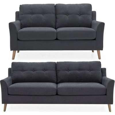 Vida Living Olten Charcoal Fabric 3+1+1 Seater Sofa