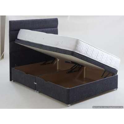 Vogue Side Lift Ottoman Fabric Divan Bed Base