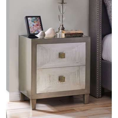 Waco Bedside Table with Glass Top