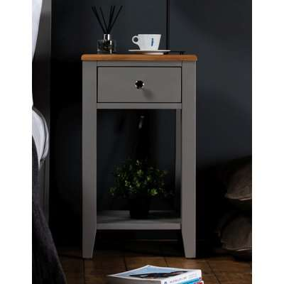 Westcote Oak and Grey Painted 1 Drawer Bedside Table
