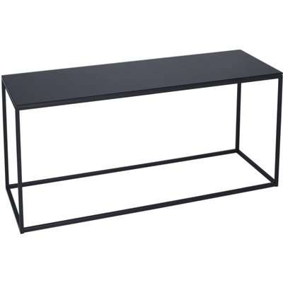 Westminster Black Glass and Black TV Stand