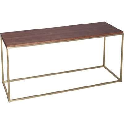 Westminster Black Glass and Brass TV Stand