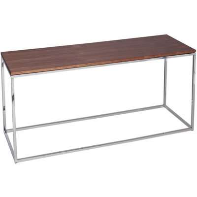 Westminster Black Glass and Stainless Steel TV Stand