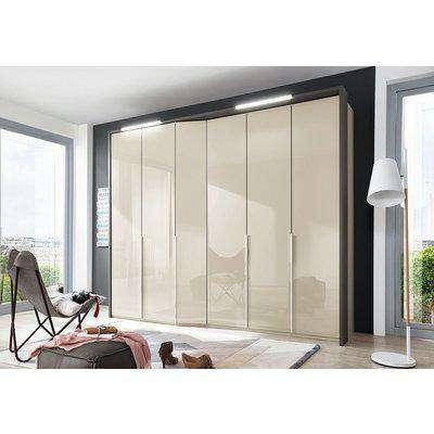 Wiemann VIP Cayenne 6 Door Wardrobe in Champagne Glass - W 283cm