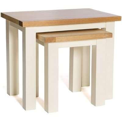 York Ivory Nest of 2 Tables