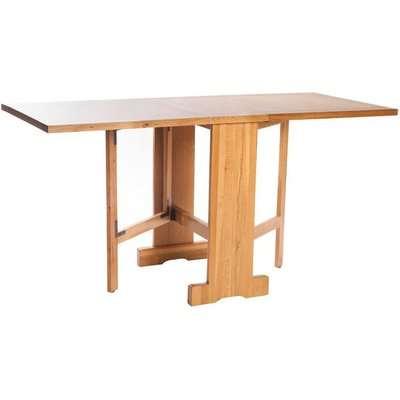 York Oak Rectangular Drop Leaf Extending Gate Leg Dining Table - 89cm-152cm