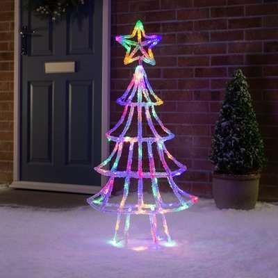1m 3D Acrylic LED Christmas Tree