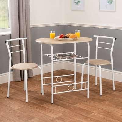 3 Piece Breakfast Table Set - White