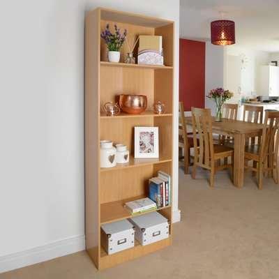 5 Shelf Storage Bookcase, Shelving Unit (Beech)