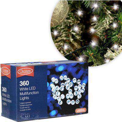 Bright White 360 LED Multi-Function Christmas Lights