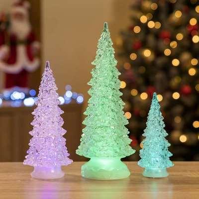 Christow 3 Colour Changing LED Christmas Trees
