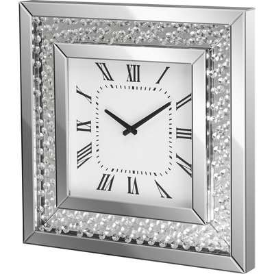 Christow Floating Crystal Mirrored Wall Clock