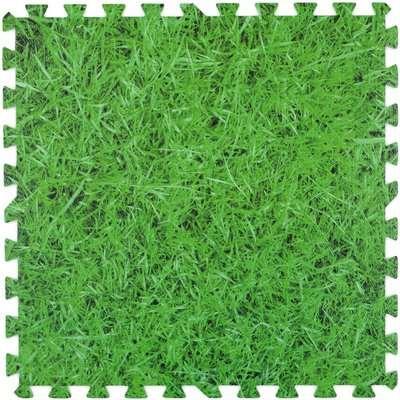 Christow Grass Foam Floor Mats - 8 Mats