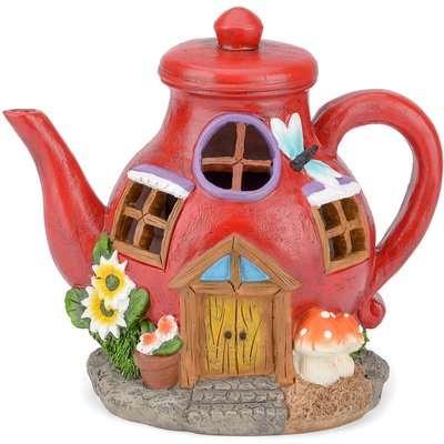 Christow Solar Powered Teapot Fairy House