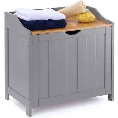 Grey & Bamboo Laundry Box