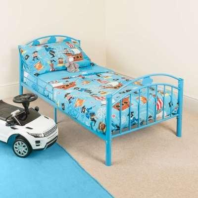 Blue Metal Toddler Bed Frame