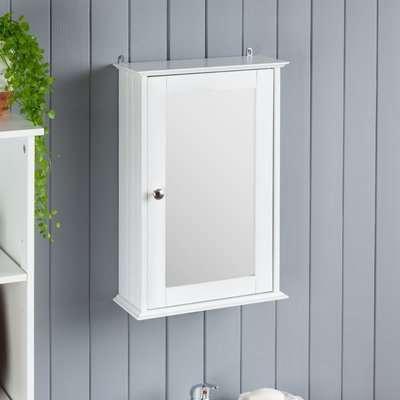 Small White Mirrored Cabinet