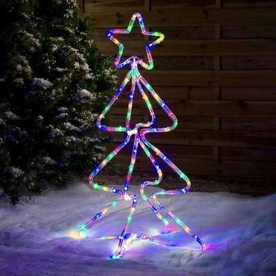 Standing Christmas Tree Rope Light