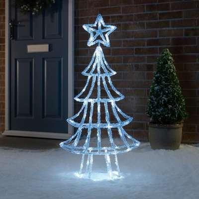 White Acrylic LED Christmas Tree