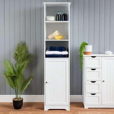 White Tallboy Cabinet