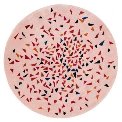 Albecq Round Rug - 200 cm / Red / Wool