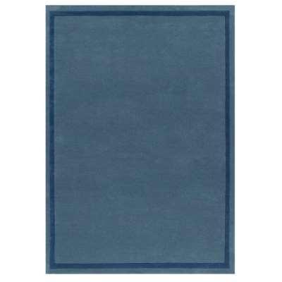 Border Rug - 120 x 180 cm / Blue / Wool