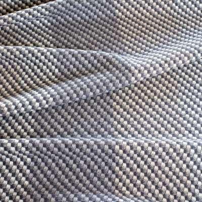 Charcoal Lambswool Fabric - Per metre / Grey / Wool