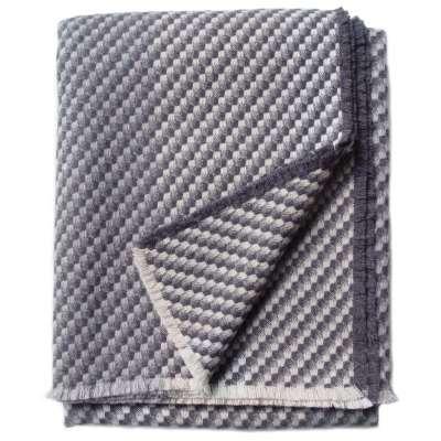 Charcoal Throw - 145 x 180 cm / Grey / Wool