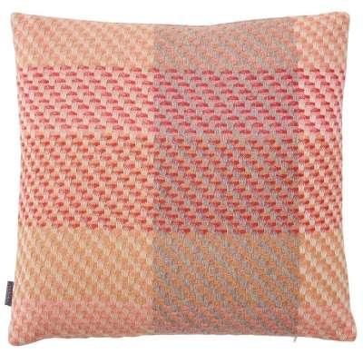 Coral Cushion - 43 x 43 cm / Orange / Wool & Silk