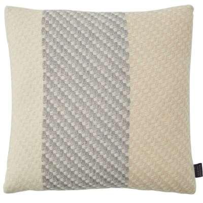 Ecru Cushion - 43 x 43 cm / Cream / Wool & Silk