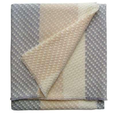 Ecru Throw - 145 x 180 cm / Cream / Wool Silk