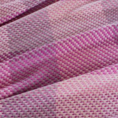 Magenta Silk Merino Fabric - Per metre / Pink / Wool Silk