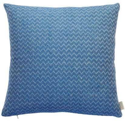 Wave Midday Cushion - 43 x 43 cm / Blue / Organic Linen