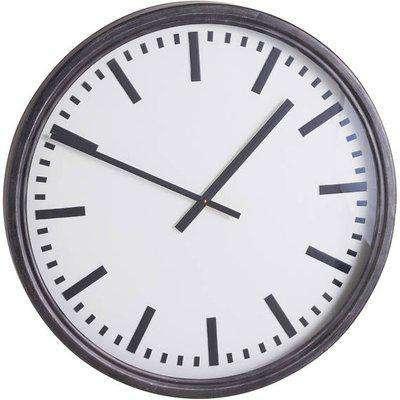 Large Black Station Clock