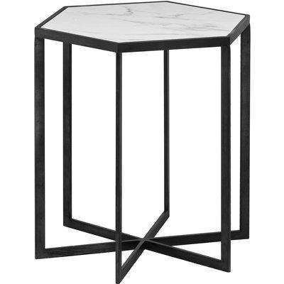 Grey And Marble Hexagonal Table