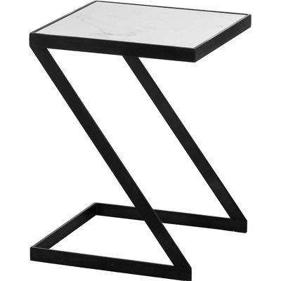 Grey And Marble Z Tray Table