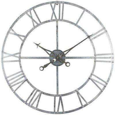 Silver Foil Skeleton Wall Clock