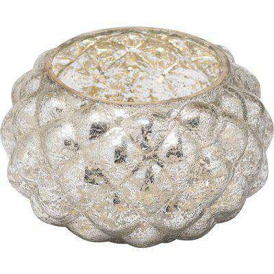 The Noel Collection Silver Foil Effect Votive Candle Holder