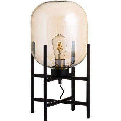 Vintage Industrial Glass Glow Lamp