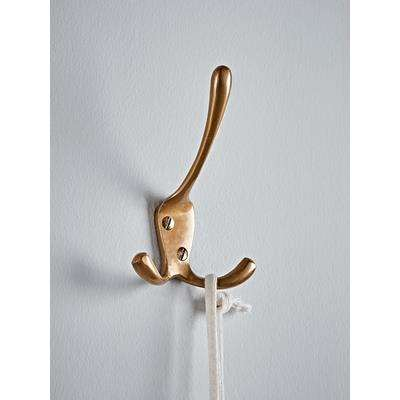 Antique Brass Triple Coat Hook