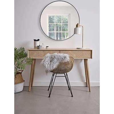 Chevron Oak Dressing Table