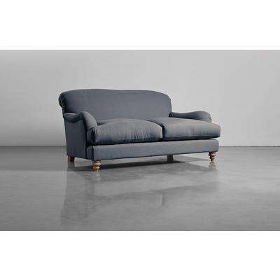 Cosy Two Seater Sofa - French Blue Linen Cotton Blend